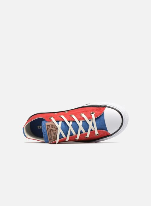 Baskets Converse Chuck Taylor All Star Ox Two Color Chambray Rouge vue gauche