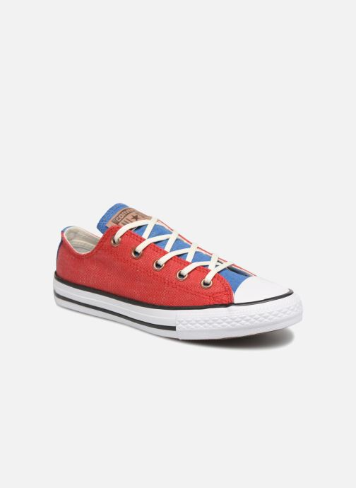 Baskets Converse Chuck Taylor All Star Ox Two Color Chambray Rouge vue détail/paire