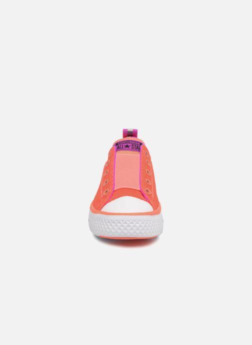 Sneaker Converse Chuck Hyper Light Ox Mixed Textile rosa schuhe getragen