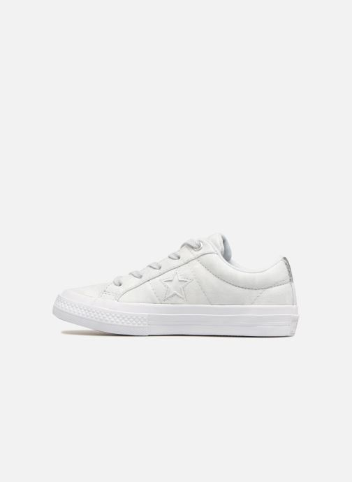 Sneakers Converse One Star Ox Peached Wash Zilver voorkant
