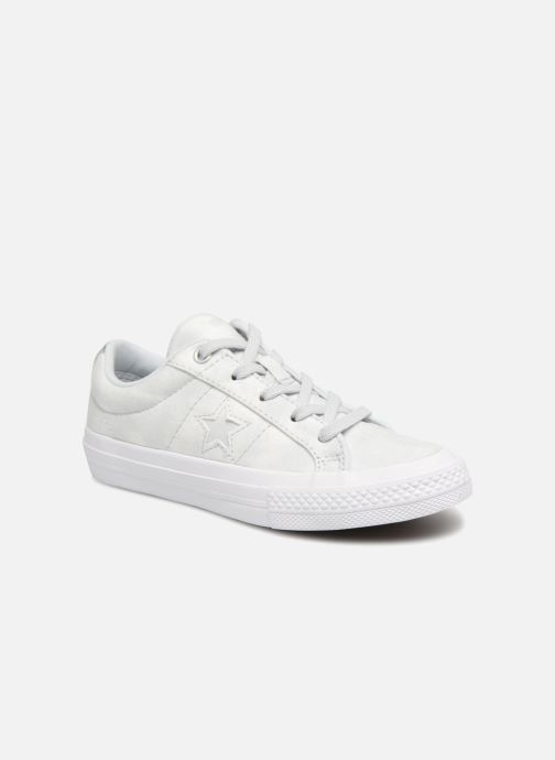 Trainers Converse One Star Ox Peached Wash Silver detailed view/ Pair view