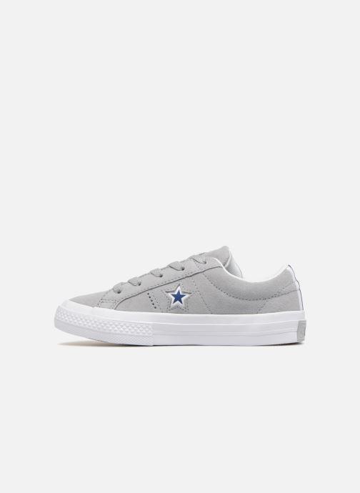 Sneaker Converse One Star Ox Molded Varsity Star grau ansicht von vorne