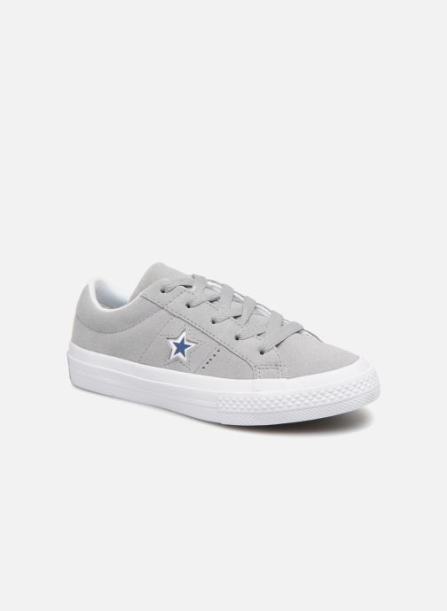 Baskets Converse One Star Ox Molded Varsity Star Gris vue détail/paire
