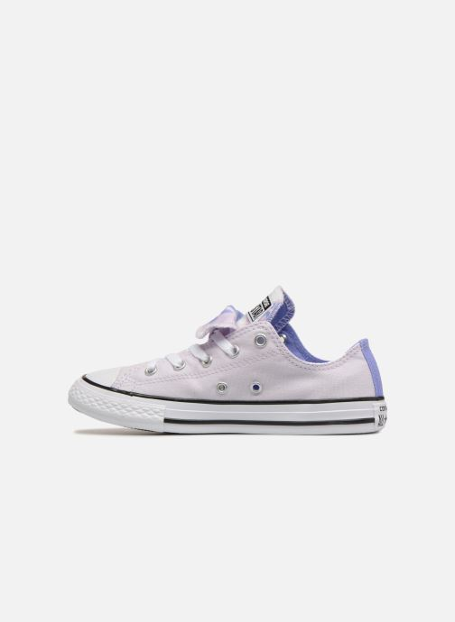 Baskets Converse Chuck Taylor All Star Double Tongue Ox Palm Trees Violet vue face