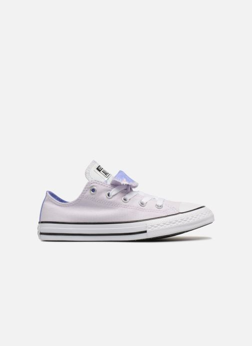 69017fdf374de Baskets Converse Chuck Taylor All Star Double Tongue Ox Palm Trees Violet  vue derrière