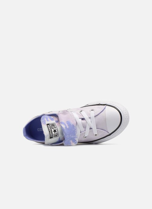 Baskets Converse Chuck Taylor All Star Double Tongue Ox Palm Trees Violet vue gauche