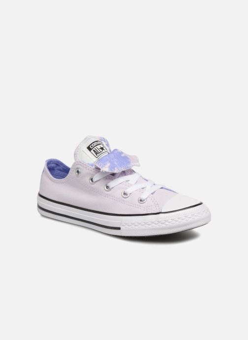 dd7b61a4464 Trainers Converse Chuck Taylor All Star Double Tongue Ox Palm Trees Purple  detailed view/ Pair