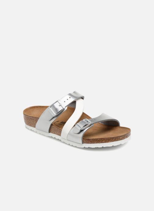 Sandales et nu-pieds Birkenstock Salina Birko Flor Argent vue détail/paire