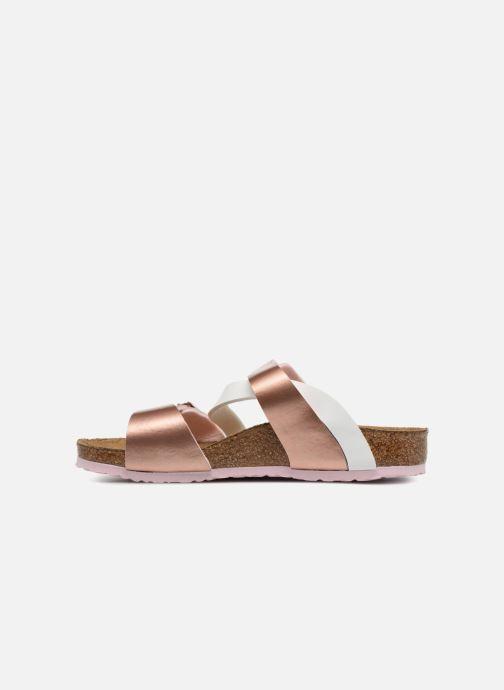 Sandales et nu-pieds Birkenstock Salina Birko Flor Or et bronze vue face