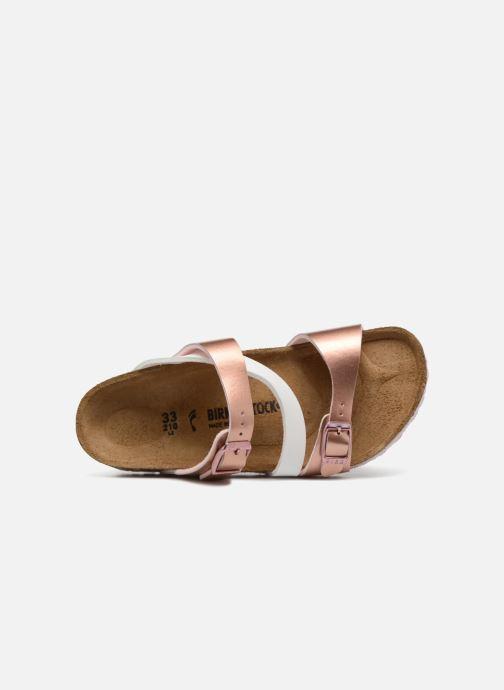 Sandales et nu-pieds Birkenstock Salina Birko Flor Or et bronze vue gauche