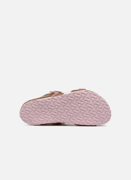 Sandales et nu-pieds Birkenstock Salina Birko Flor Or et bronze vue haut
