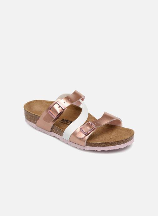 Sandales et nu-pieds Birkenstock Salina Birko Flor Or et bronze vue détail/paire