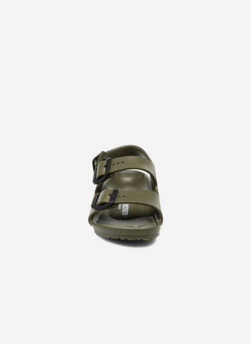 Sandalen Birkenstock Milano EVA grün schuhe getragen
