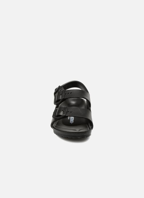 Sandalen Birkenstock Milano EVA schwarz schuhe getragen