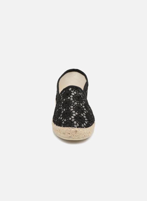 Espadrilles La maison de l'espadrille Sabline VE 701 E Noir vue portées chaussures