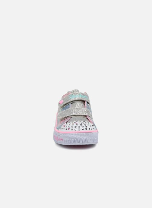 Sneakers Skechers Shuffles Ms. Mermaid Multicolore modello indossato