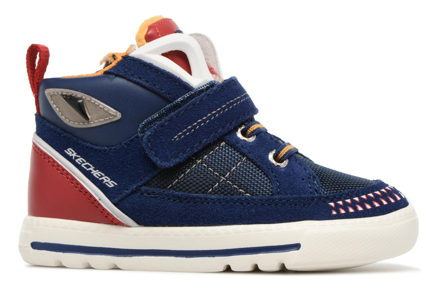 Trainers Skechers Lil Rad Monstroid Blue back view