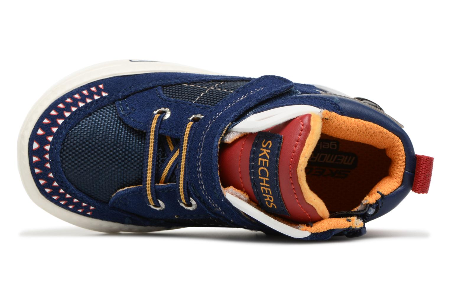 Trainers Skechers Lil Rad Monstroid Blue view from the left
