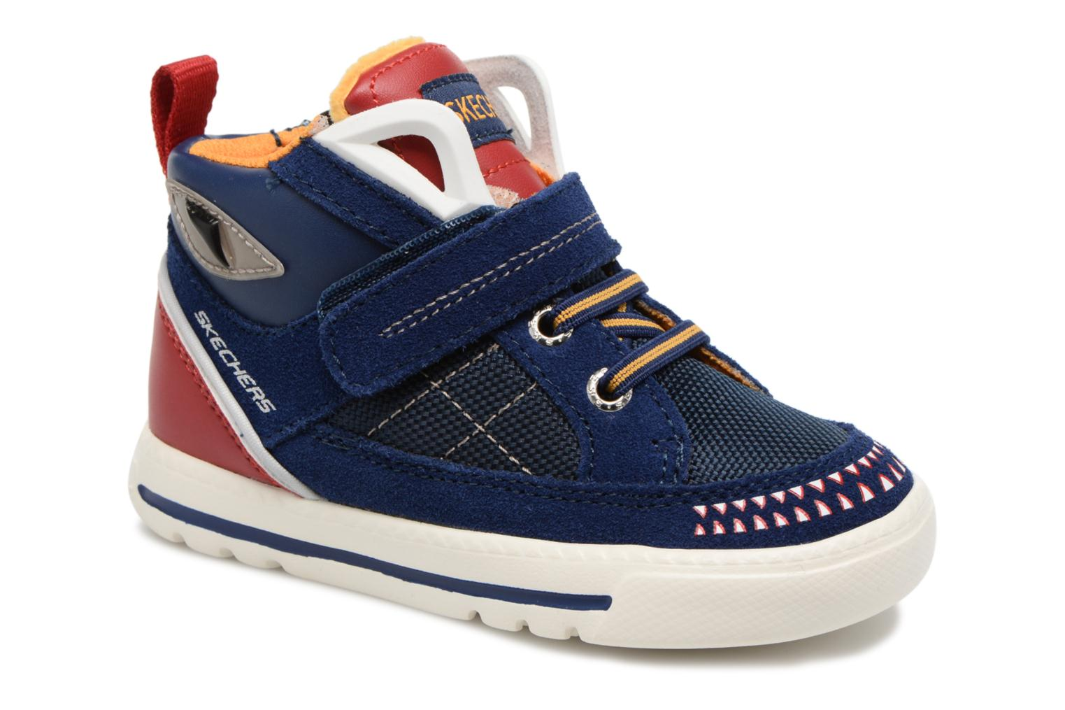 Trainers Skechers Lil Rad Monstroid Blue detailed view/ Pair view