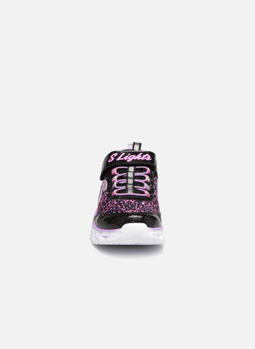 Sneaker Skechers Galaxy Lights schwarz schuhe getragen