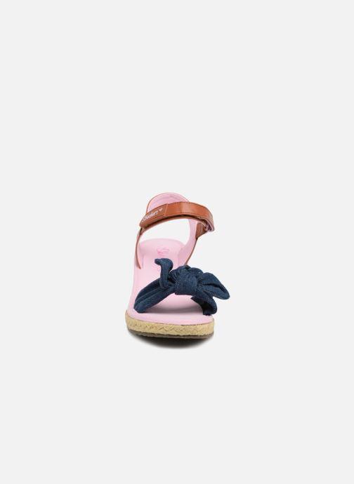 Espadrilles Skechers Tikis Denim Dolls Bleu vue portées chaussures