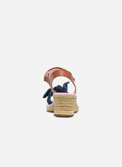 Espadrilles Skechers Tikis Denim Dolls Bleu vue droite