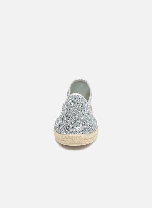 Espadrilles La maison de l'espadrille Espadrille 324 Glitter Argent vue portées chaussures