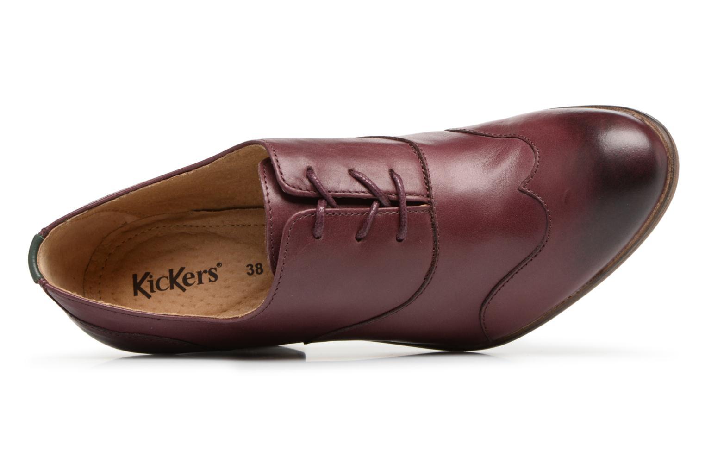 Chaussures à lacets Kickers DATING Bordeaux vue gauche