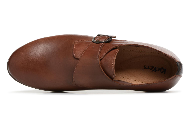Chaussures à lacets Kickers GAMBETTA Marron vue gauche