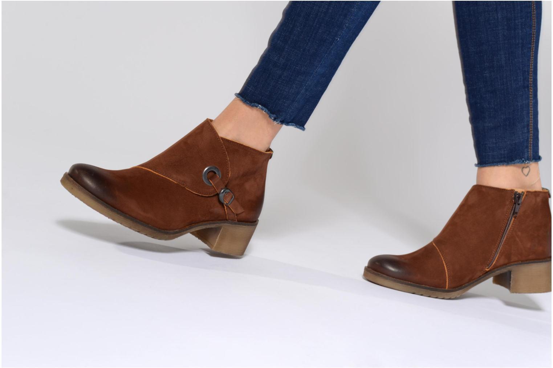 Bottines et boots Kickers MISS Marron vue bas / vue portée sac