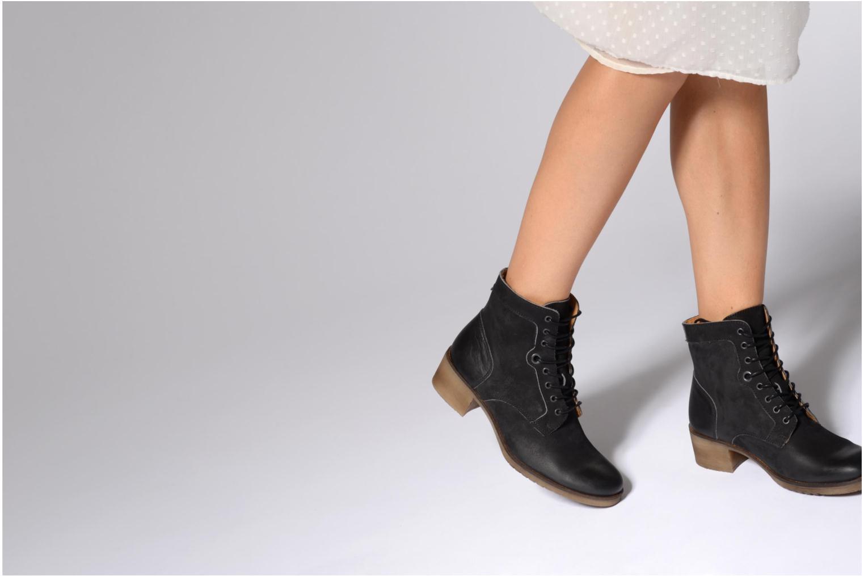 Bottines et boots Kickers MISSING Marron vue bas / vue portée sac