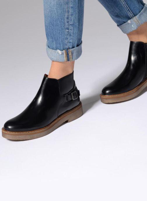 Bottines et boots Kickers OXIMORE Bordeaux vue bas / vue portée sac
