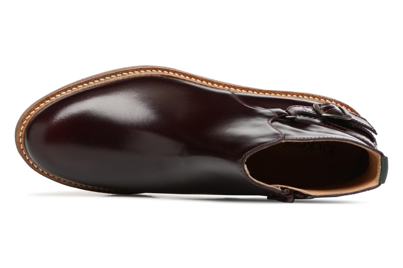 Bottines et boots Kickers OXIMORE Bordeaux vue gauche