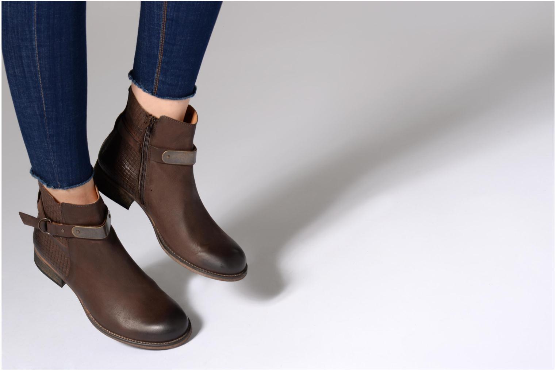 Bottines et boots Kickers PUNKING Noir vue bas / vue portée sac