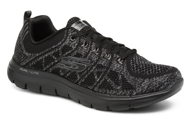 Chaussures de sport Skechers Flex Appeal 2,0 New Gem Noir vue détail/paire