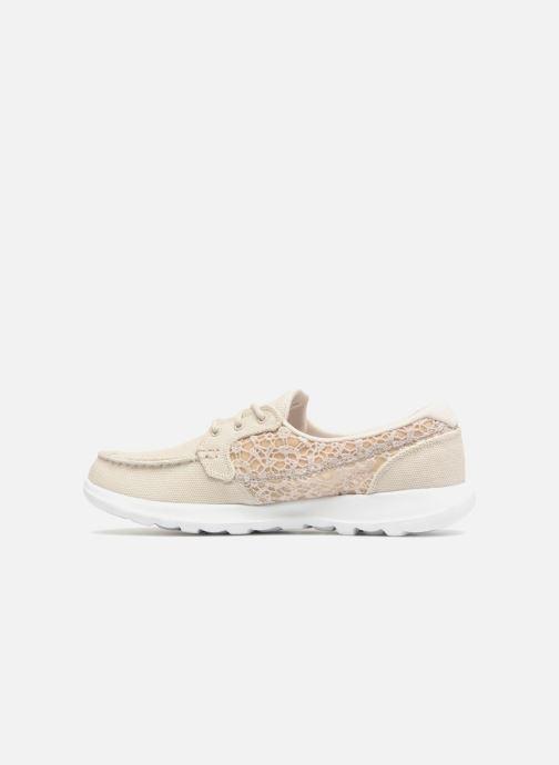 Chaussures à lacets Skechers Go Walk Lite Mira Beige vue face