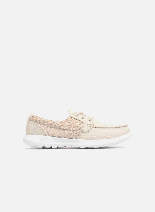 Chaussures à lacets Skechers Go Walk Lite Mira Beige vue derrière