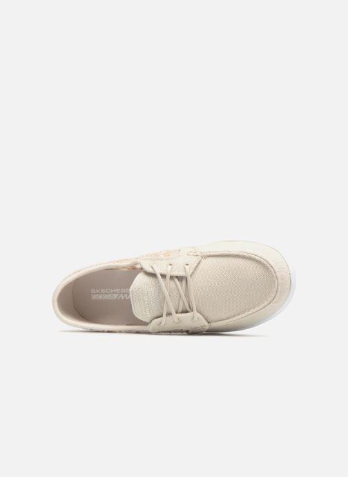Chaussures à lacets Skechers Go Walk Lite Mira Beige vue gauche