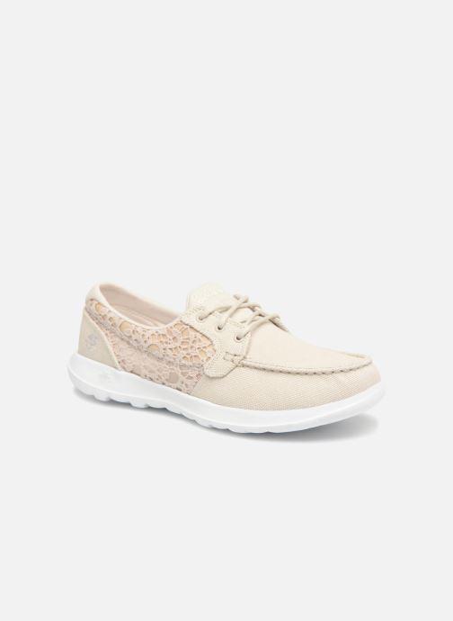 Chaussures à lacets Skechers Go Walk Lite Mira Beige vue détail/paire