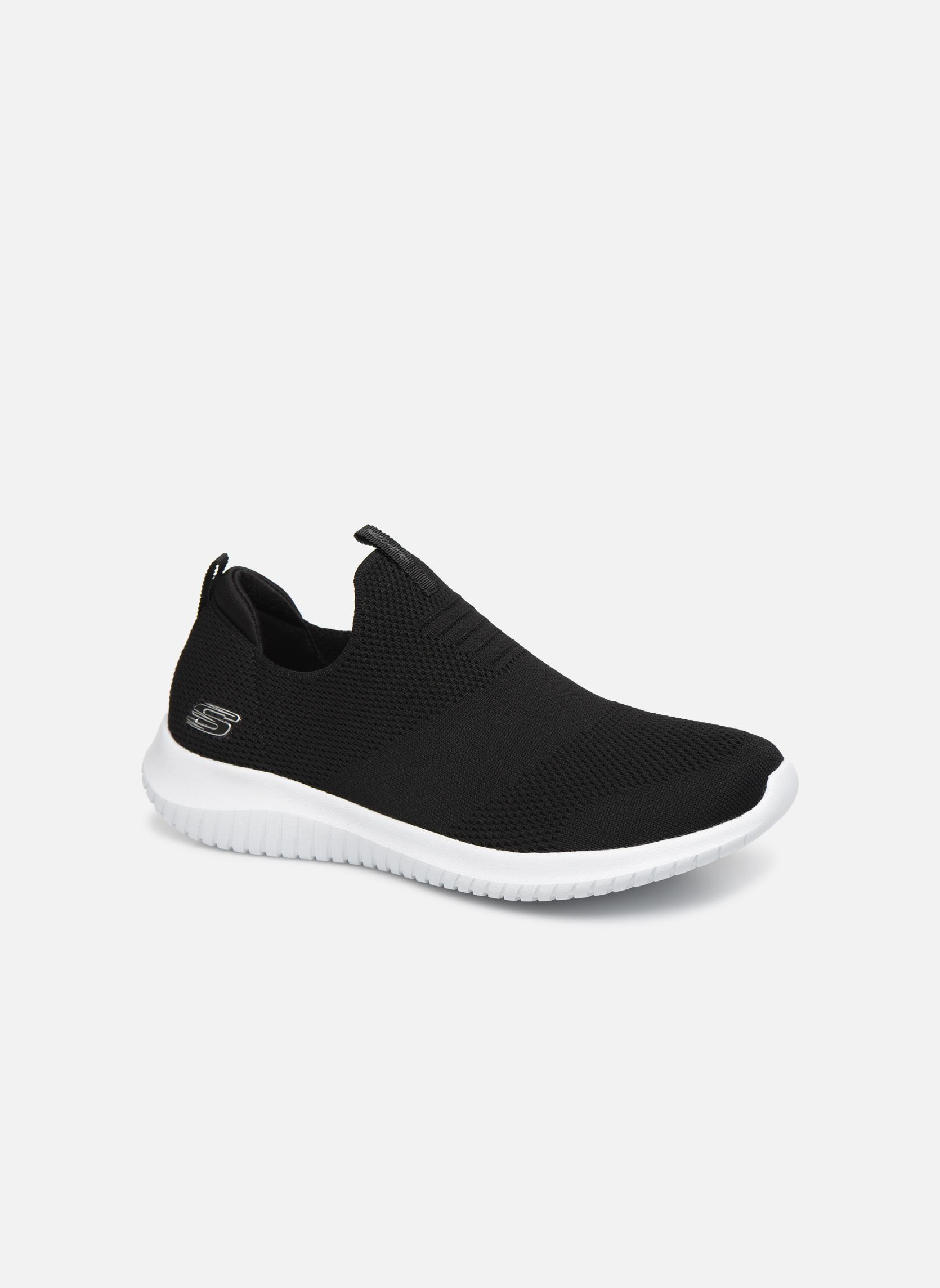 Sportssko Skechers Ultra Flex First Take Sort detaljeret billede af skoene