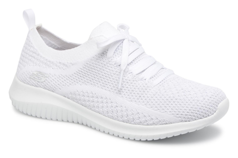 Sportssko Skechers Ultra Flex Salutations Hvid detaljeret billede af skoene