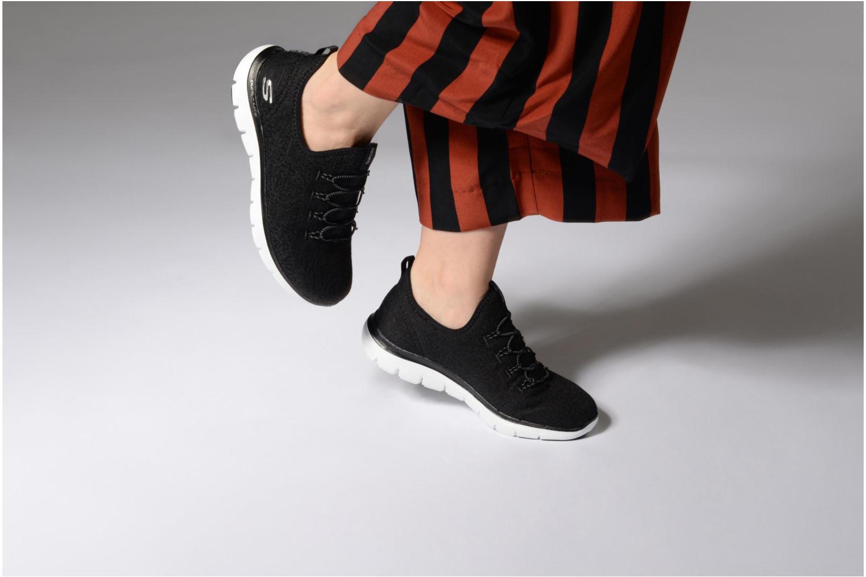 Chaussures de sport Skechers Flex Appeal 2.0 Clear-Cut Noir vue bas / vue portée sac