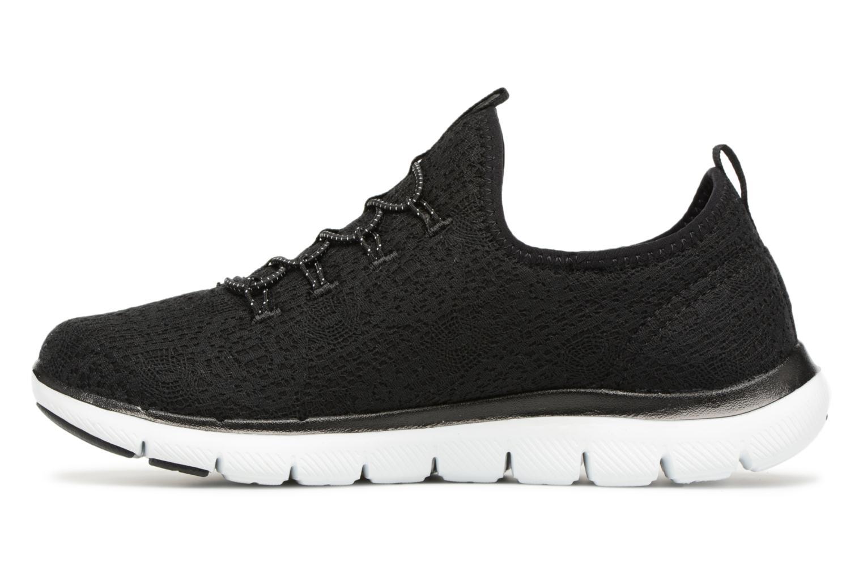 Chaussures de sport Skechers Flex Appeal 2.0 Clear-Cut Noir vue face