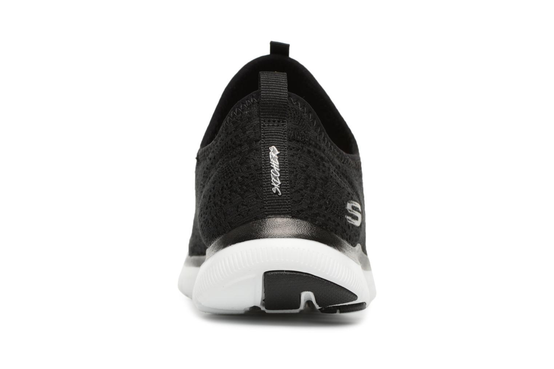 Chaussures de sport Skechers Flex Appeal 2.0 Clear-Cut Noir vue droite