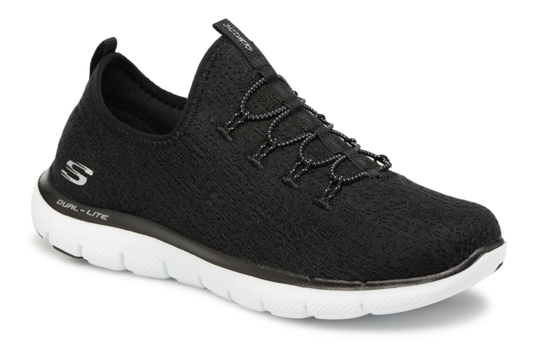 Chaussures de sport Skechers Flex Appeal 2.0 Clear-Cut Noir vue détail/paire