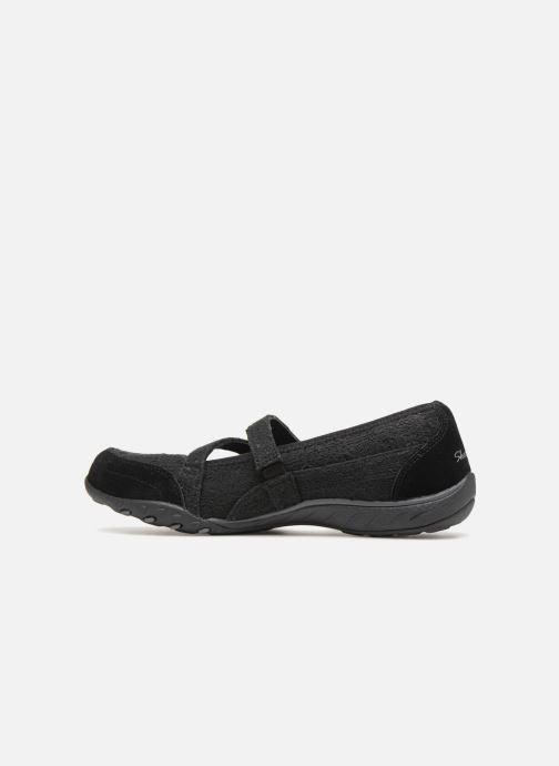 Ballet pumps Skechers Breathe-Easy Pretty Swagger Black front view