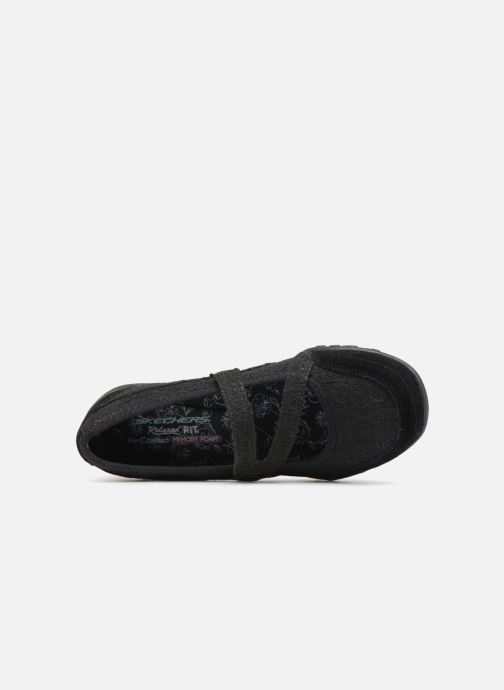 Ballet pumps Skechers Breathe-Easy Pretty Swagger Black view from the left