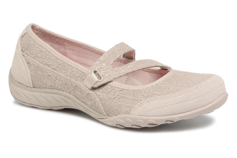 Skechers Breathe-Easy Pretty Swagger (Beige) - Ballerines en Más cómodo Chaussures femme pas cher homme et femme
