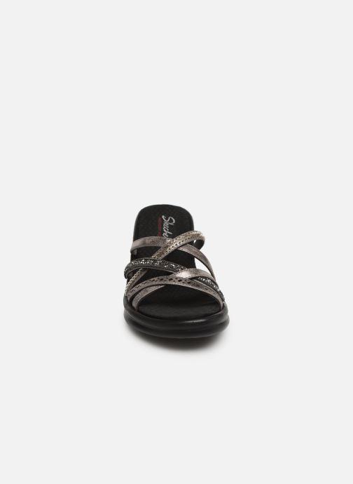 Sandalen Skechers Rumbler Wave New Lassie silber schuhe getragen