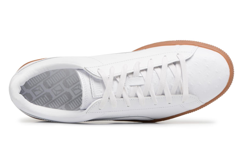 Sneaker Puma BASKET CLASSIC OR weiß ansicht von links